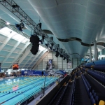 Audio Hire - Flexarray in the aquatic centre manchester